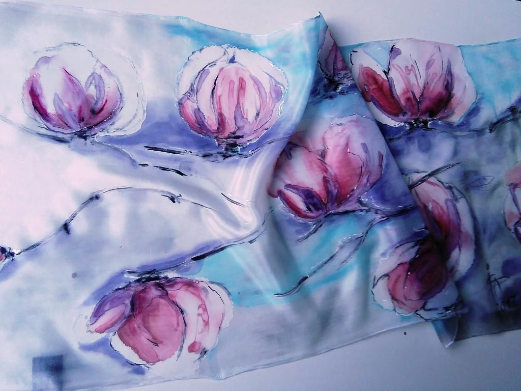 Malovaný hedvábný šátek 6b0d32ac86