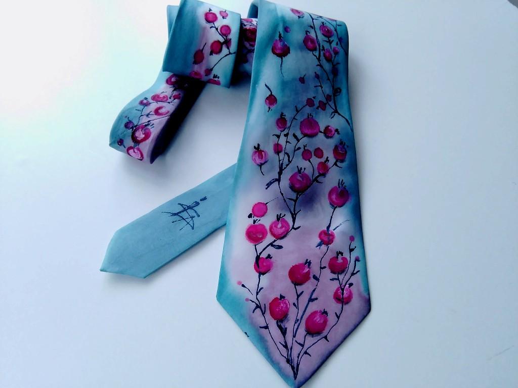 Hedvábná kravata - Bobulky  05d0ced7df